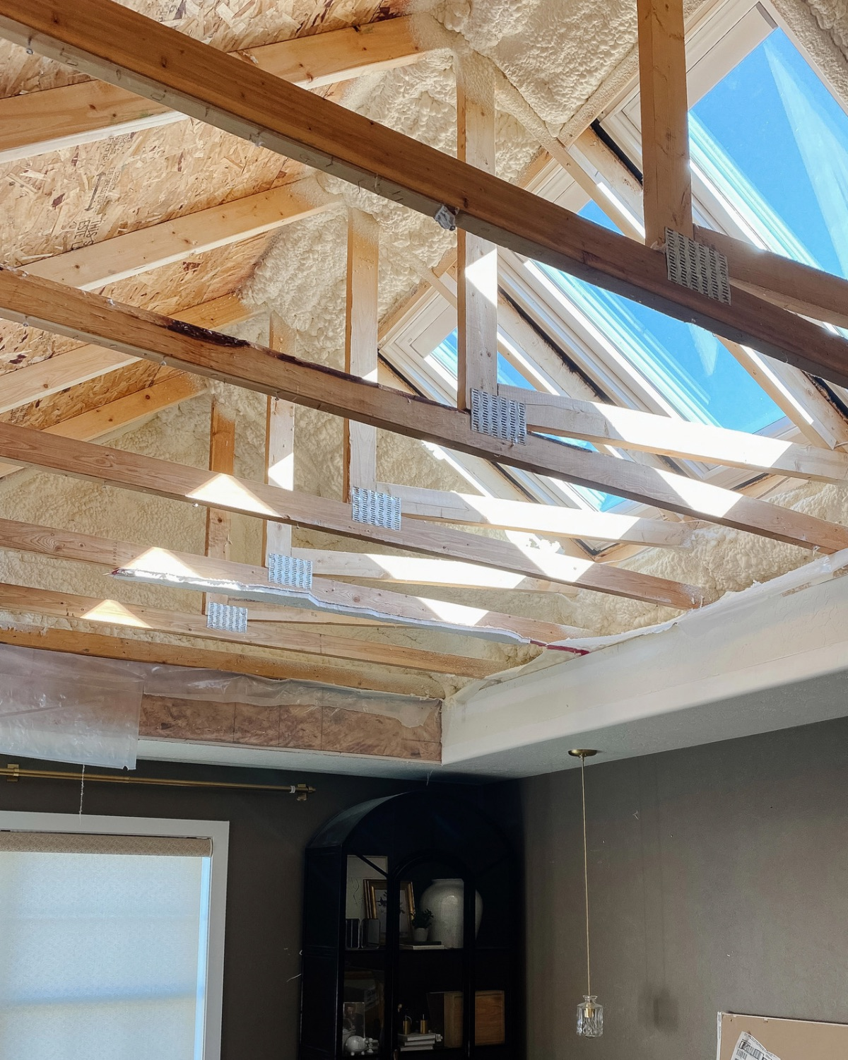 VELUX Skylights After with exposed trusses